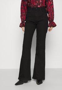 NU-IN - HIGH RISE - Flared Jeans - black - 0