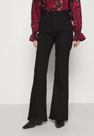 HIGH RISE - Flared Jeans - black