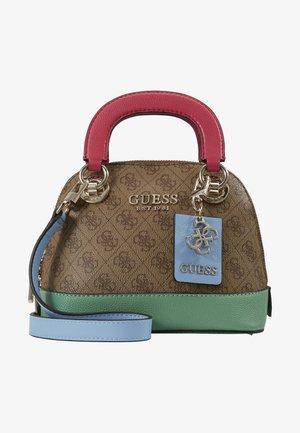 CATHLEEN SMALL DOME SATCHEL - Handbag - brown/multi