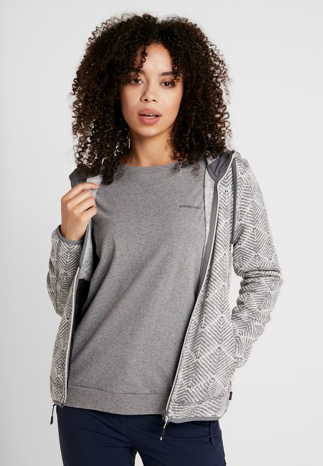 WOMAN JACKET FIX HOOD - Fleecová bunda - rock/graffite