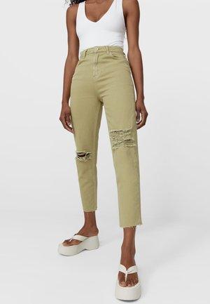MOM FIT - Straight leg jeans - dark green