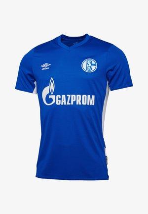 Print T-shirt - blau / weiß