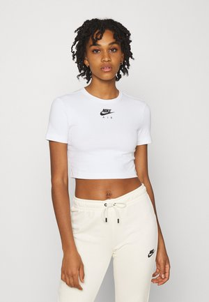 AIR CROP - Triko s potiskem - white/black
