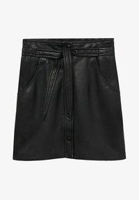 Mango - Leather skirt - černá - 5