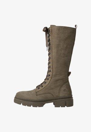 Boots - olive nub uni