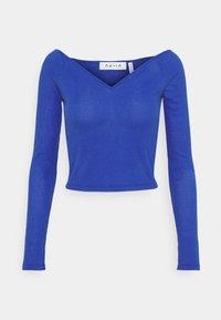 NU-IN - OFF SHOULDER HEART NECK - Long sleeved top - blue - 0