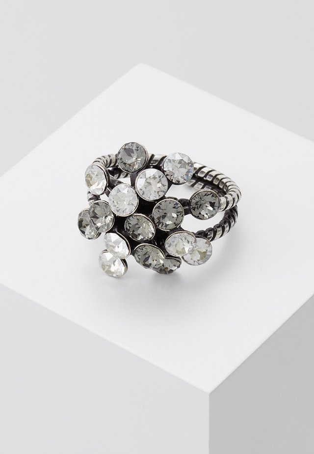 Ring - white/antiquesilver-coloured