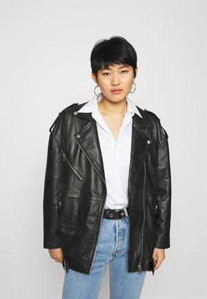 AGATHA BIKER - Short coat - black