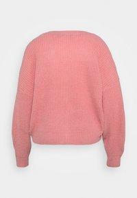 Vero Moda Curve - VMLEA V NECK CARDIGAN - Cardigan - geranium pink - 1