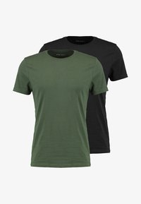 Pier One - 2 PACK - T-shirt basic - black - 5