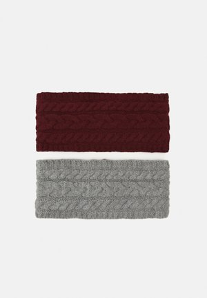 2 PACK - Nauszniki - grey/bordeaux