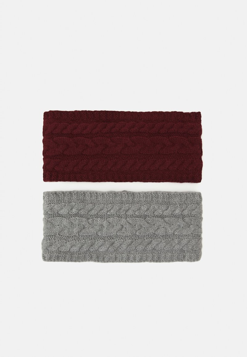 Anna Field - 2 PACK - Čelenka - grey/bordeaux