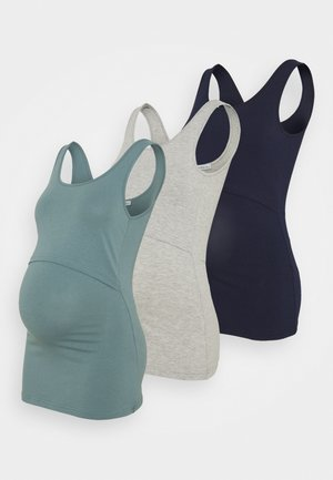 3 PACK - Top - dark blue/teal /light grey