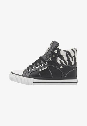 SNEAKER ATOLL - High-top trainers - black/zebra