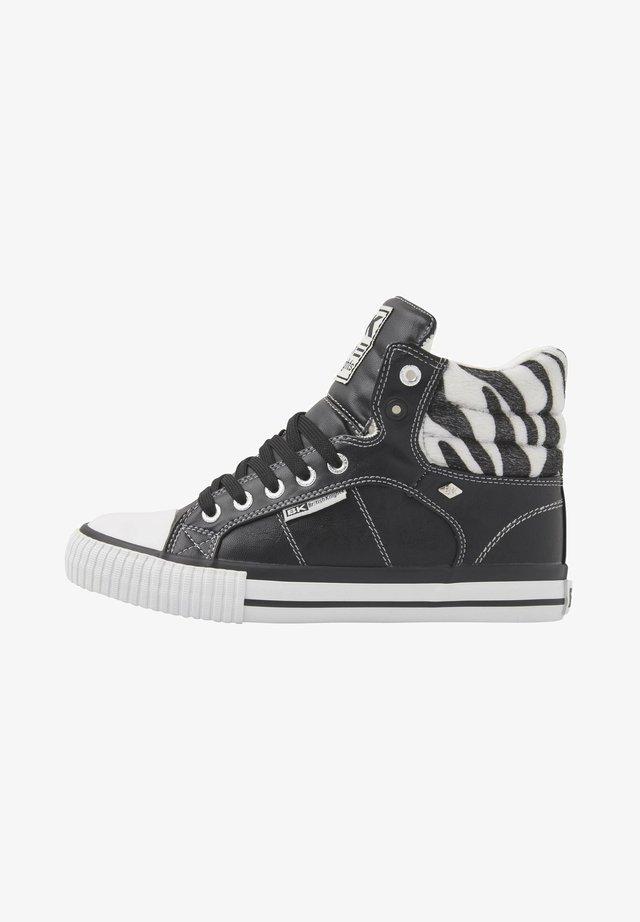 SNEAKER ATOLL - Korkeavartiset tennarit - black/zebra