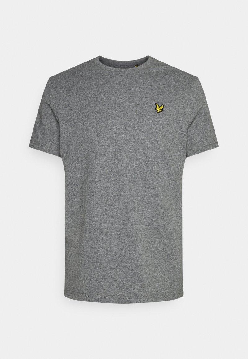 Lyle & Scott - PLAIN - T-shirt - bas - mid grey marl