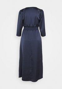 Dorothy Perkins - WRAP SHEERED WAIST MIDI DRESS - Cocktail dress / Party dress - navy - 1