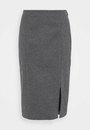 TAILORED SEAMING PENCIL - Pencil skirt - dark charcoal