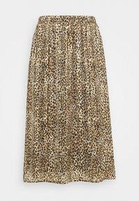 Kaffe Curve - KCLANANA SKIRT - Maxi skirt - brown/gold - 0