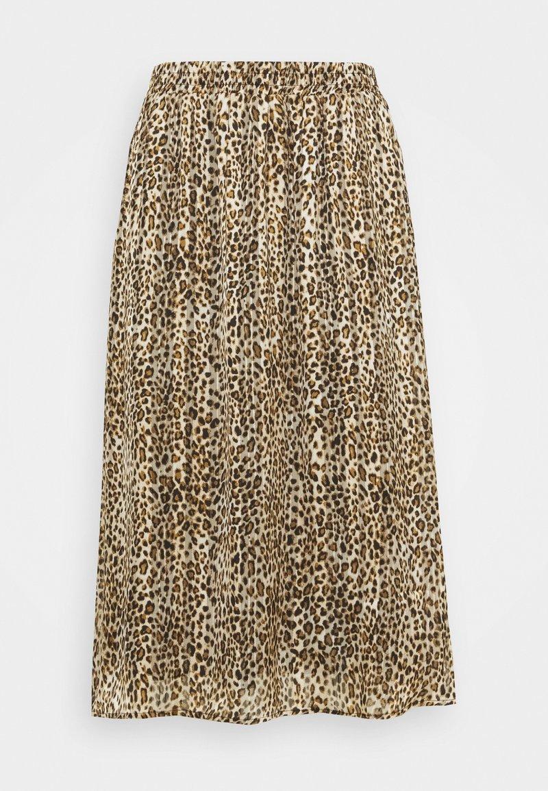Kaffe Curve - KCLANANA SKIRT - Maxi skirt - brown/gold