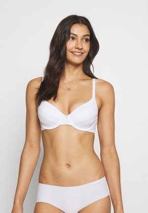 FULL CUP PLEATS - T-shirt bra - white