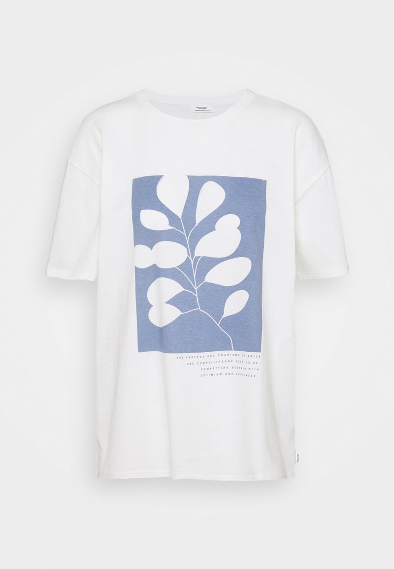 Marc O'Polo DENIM - SHORTSLEEVE ROUNDNECK - Print T-shirt - scandinavian white