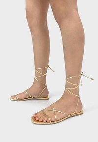 Bershka - Sandals - gold - 0