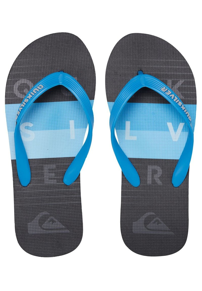 Quiksilver - MOLOKAI WORD BLOCK - Pool shoes - blue/black/blue