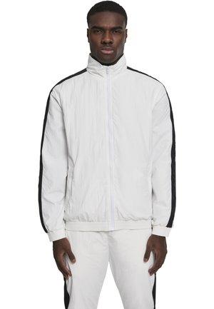 CRINKLE  - Training jacket - wht/blk