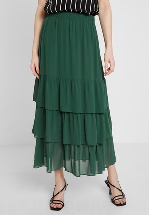 LERA SKIRT - Pleated skirt - dark green