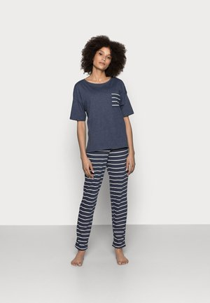 STRIPE - Pyjama set - navy mix