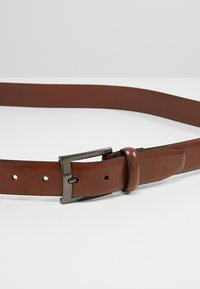 Burton Menswear London - TEXT BUCKLE - Belt - brown - 4