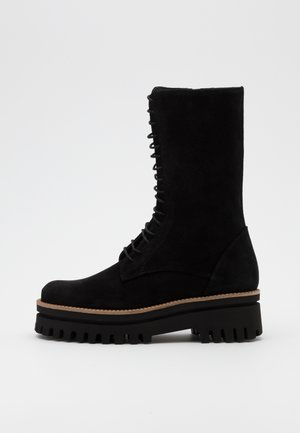 LISBOA - Lace-up ankle boots - black