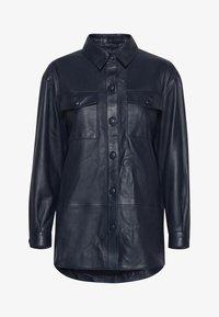 ICHI - IHYOHANNA SH - Button-down blouse - dark navy - 4