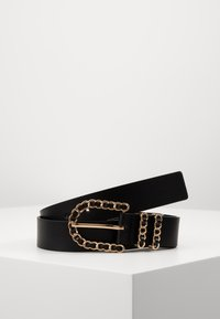 Gina Tricot - SANDRA BELT - Pásek - black/gold-coloured - 0