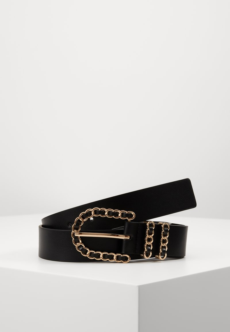 Gina Tricot - SANDRA BELT - Pásek - black/gold-coloured