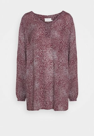 LEAFS AMBER - Blouse - port royal/black