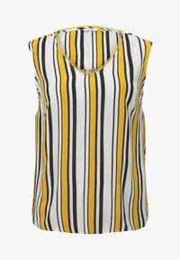 MY TRUE ME TOM TAILOR - MIT HÄKEL - Blouse - black yellow stripe - 4