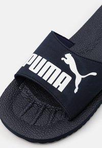 Puma - PURECAT UNISEX - Sandalias planas - peacoat/white - 5