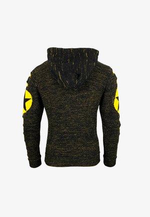 Kapuzenpullover - schwarz / gelb