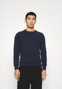 Wool & Co - GIROCOLLO BOTTONATO - Jumper - blue - 0