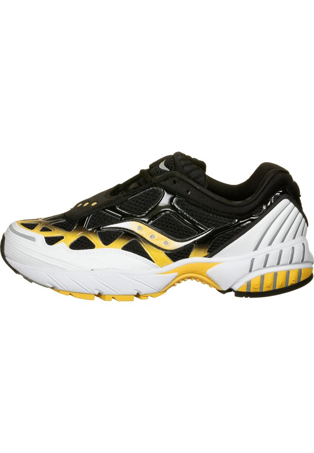 SCHUHE GRID WEB - Baskets basses - white/black/yellow