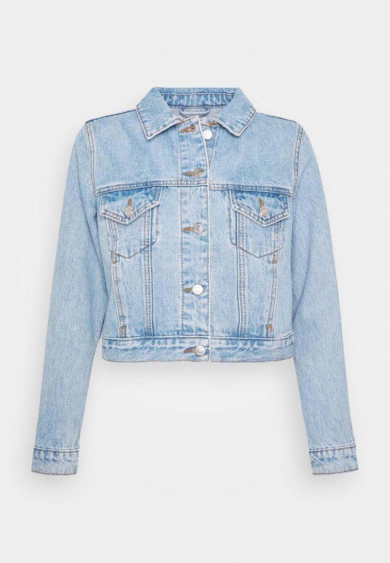 Topshop Petite - TILDA - Džínová bunda - blue denim