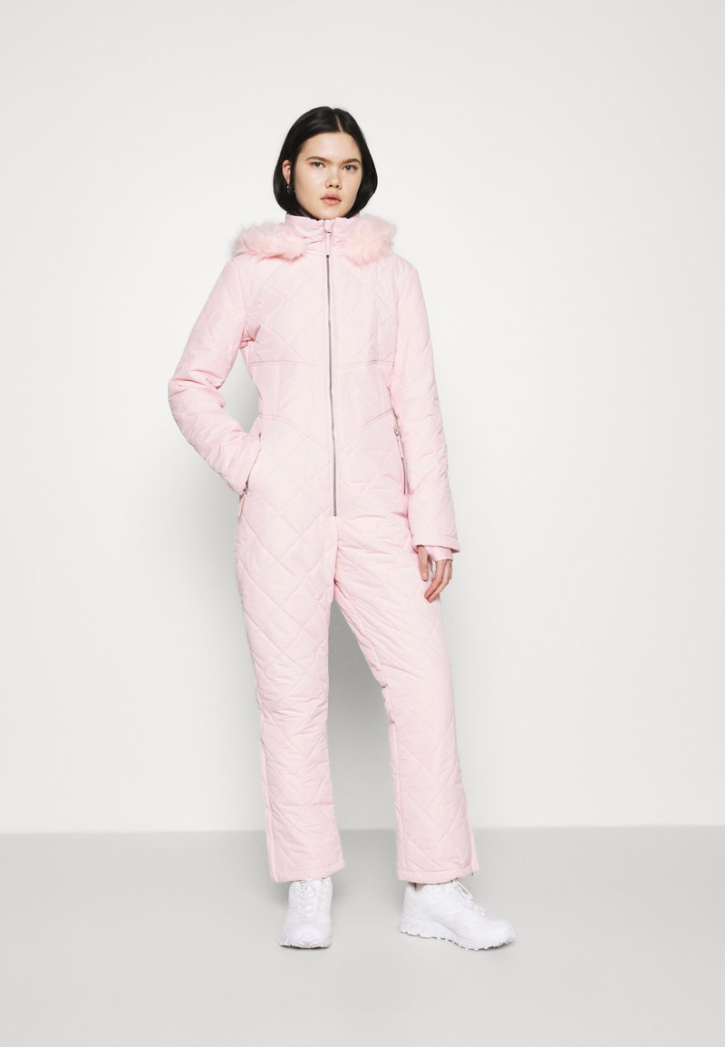 Missguided - SKI QUILTED CORSET SNOW - Jumpsuit - pink