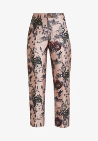 Scotch & Soda - PRINTED PANTS IN SHINY QUALITY - Bukse - pink - 4