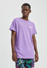 PULL&BEAR - T-shirt basic - purple - 0