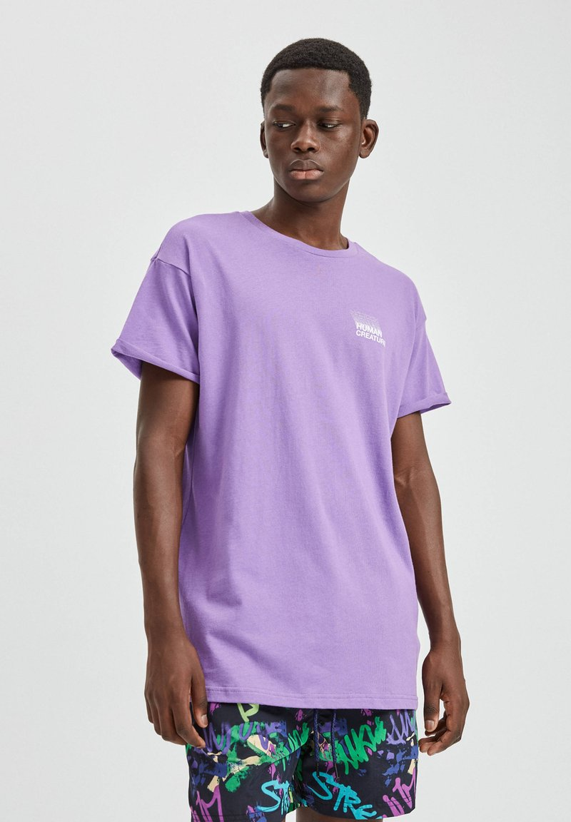 PULL&BEAR - T-shirt basic - purple