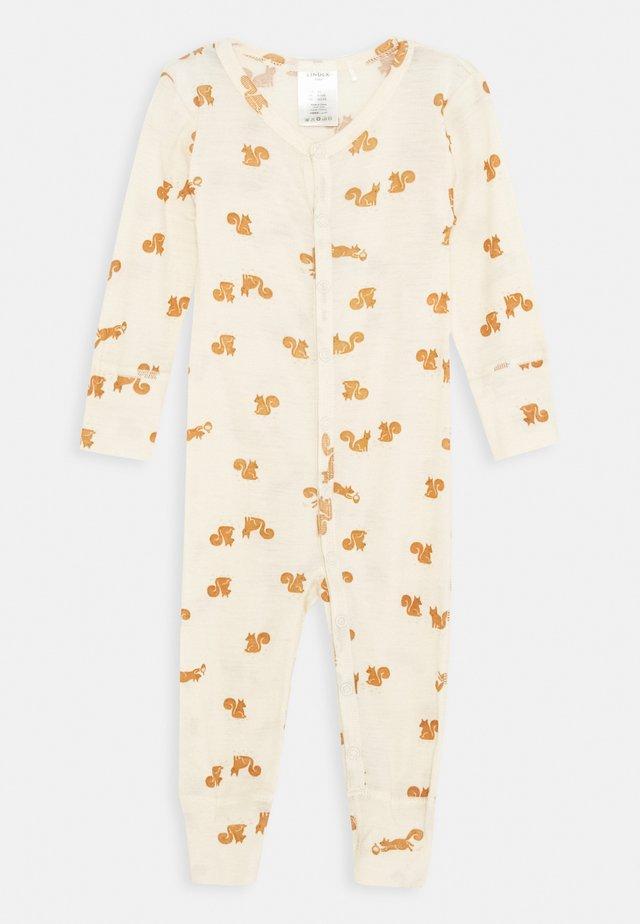 BABY WOOL ONESIES PRINT UNISEX - Pyjamas - light beige