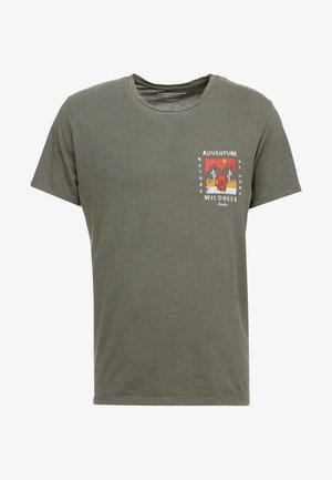JORSUB SOUL TEE CREW NECK   - Camiseta estampada - dusty olive