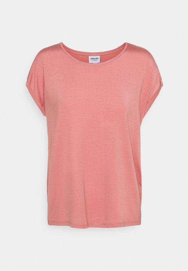 VMAVA PLAIN - Basic T-shirt - old rose